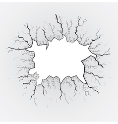 Smashed glass vector image vector image