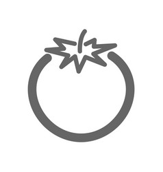 Tomato outline icon vegetable vector