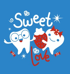 Tooth and sweets vector image vector image