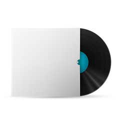 Vinyl record in a paper case vector