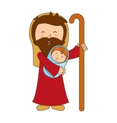 Saint joseph character icon vector