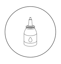 Tattoo paint tube icon outline single tattoo icon vector