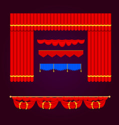 theather scene blind curtain stage fabric texture vector image