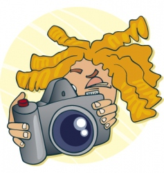 Young photographer vector