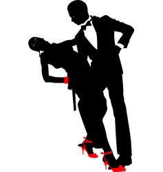 dance pair vector image