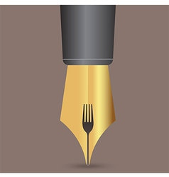 Fork in pen vector