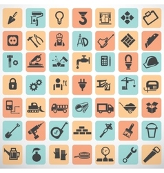 Big set of work tools and construction icons and vector