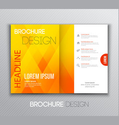 Abstract template brochure design with geometric vector
