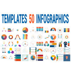 50 templates for infographics for three positions vector image vector image