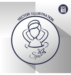 Spa center design vector