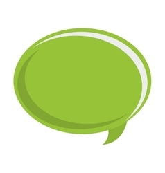 Green conversation bubble vector
