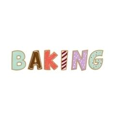 Corlorfull letters icon baking design vector