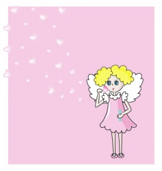 Angel and bubbles vector