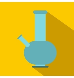 Bong for smoking icon flat style vector image