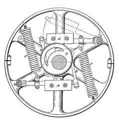 Buckeye engine governor vintage vector