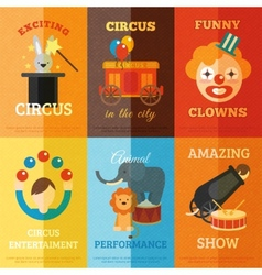 Circus Poster Set vector image vector image