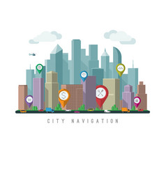 city navigation concept vector image vector image