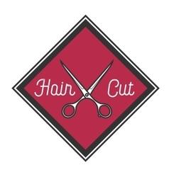 Color vintage barbershop emblem vector image vector image