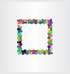 Colorful frame design background box vector