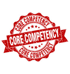core competency stamp sign seal vector image