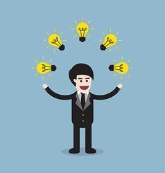 creative idea business man vector image