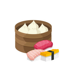 Dim sum and nigiri vector