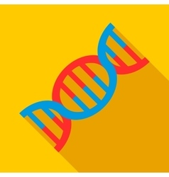 DNA icon flat style vector image