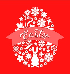 easter ribbon red vector image vector image