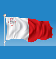 Flag of malta vector