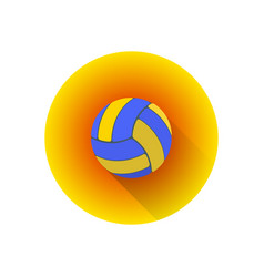 Flat color volleyball ball vector