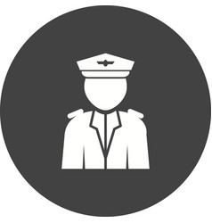 Flight captain vector