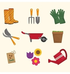 Gardening icon design vector image