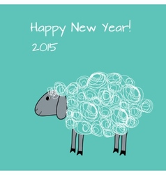 Greeting card with sheep vector image vector image