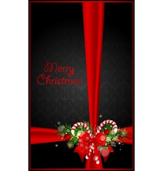 greeting xmas card vector image vector image