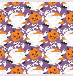 Halloween carnival seamless pattern background vector