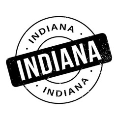 Indiana rubber stamp vector