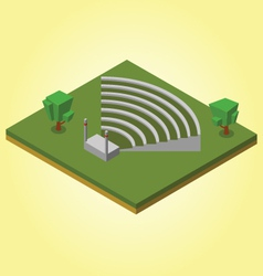 Isometric ampitheater vector