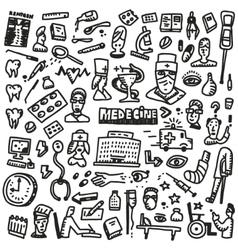 Medicine - doodles set vector