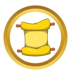 Ninja scroll icon cartoon style vector