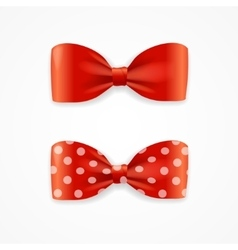 Red bow tie set vector