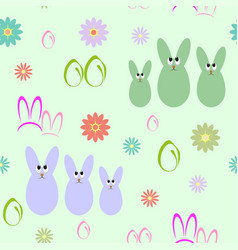 Seamless background with silhouettes of easter vector