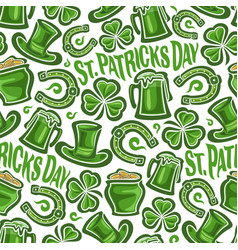 Seamless pattern for st patricks day vector