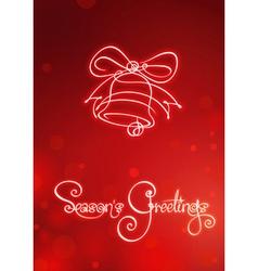 Seasons Greetings Card2 vector image vector image