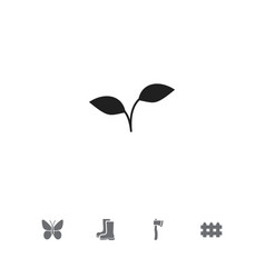 Set of 5 editable gardening icons includes vector