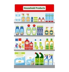 Showcase with hygiene items vector