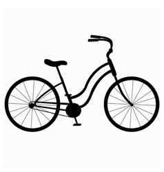 Silhouette bicycle vector