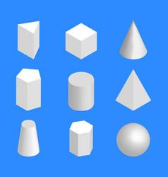 simple geometric figures isometric vector image