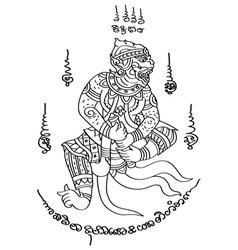 Tattoo thai style 1 vector
