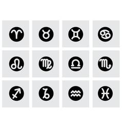 zodiac symbol icon set vector image