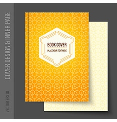 Cover design for business brochure annual report vector